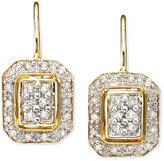 Square Diamond Earrings in 14k Gold (1/4 ct. t.w.)
