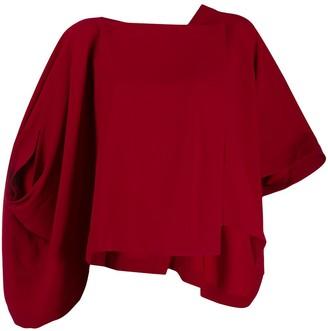 Issey Miyake Satin Back Drape Shirt