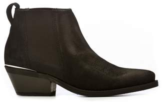 Janet & Janet Janet&janet Black Suede Texan Boots