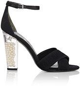 Stella Luna Women's Acrylic-Glass-Heel Plissé Sandals