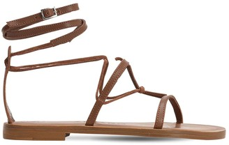 Álvaro González 10mm Leather T-Bar Sandals