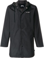 Stussy hooded logo print jacket