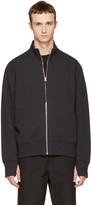 Rag & Bone Black Trooper Zip-up Sweater
