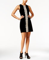 Jessica Simpson Crochet-Trim Velvet Dress