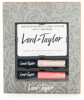 Lord & Taylor Gift Card Holder and Lip Gloss Set