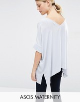 Asos Oversized Kimono T-Shirt With V Back