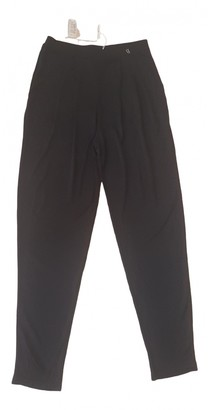 Galliano Black Trousers for Women