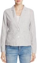 Eileen Fisher Notch Collar Stripe Jacket