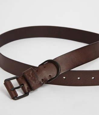 AllSaints Joel-D Leather Belt