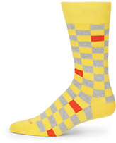 HUGO BOSS Check Combed Cotton Socks