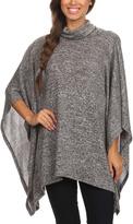 Blvd Gray Cowl Neck Flutter-Sleeve Tunic