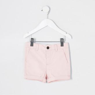 River Island Mini boys pink chino shorts
