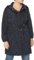 Evans Plus Size Women's Longline Hooded Raincoat