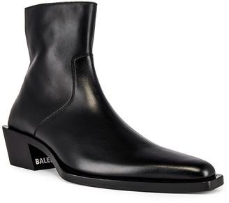 Balenciaga Tiaga Bootie in Black & White | FWRD
