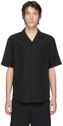 Solid Homme Black Short Sleeve Shirt