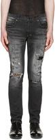 Diet Butcher Slim Skin Black Skinny Damaged Repair Jeans