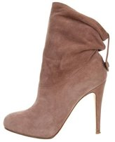 Nicholas Kirkwood Suede Round-Toe Ankle Boots