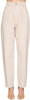 Alberta Ferretti High Waist Cotton Denim Pants