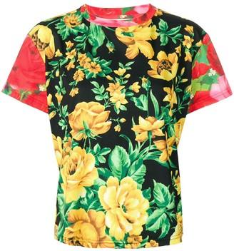 Richard Quinn rose printed T-shirt