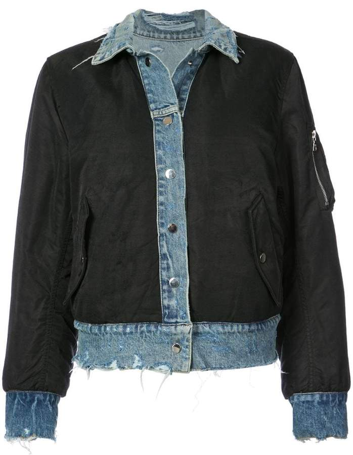 Amiri reversible denim bomber jacket