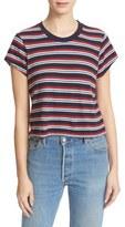 RE/DONE Women's Stripe Boxy Tee