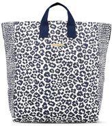 Stella McCartney midnight animal print beach bag