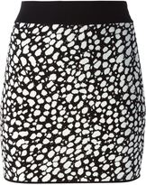 Fausto Puglisi pebble intarsia knit skirt