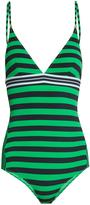 Stella McCartney Calypso contrast-striped swimsuit