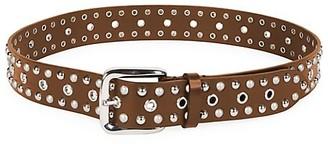 Isabel Marant Rica Imitation Pearl & Studded Leather Belt