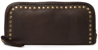 Persaman New York Laura Studded Leather Zip Wallet