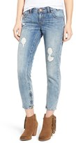 One Teaspoon Women's Freebirds Distressed Crop Skinny Jeans
