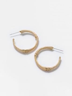 J.Mclaughlin Bamboo Hoop Earrings