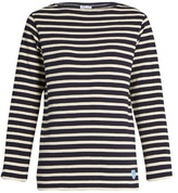 Orcival Breton-striped cotton and wool-blend top