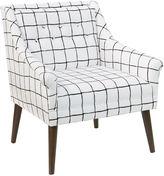 Skyline Furniture Bella Tufted Chair, Windowpane Check