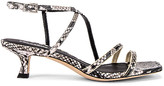 Lola Cruz Saturn Kitten Heel Sandals