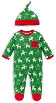 Offspring Boys' Holiday Reindeer Footie & Hat Set - Baby