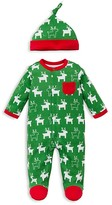 Offspring Infant Boys' Holiday Reindeer Footie & Hat Set - Sizes Newborn-9 Months