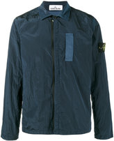 Stone Island Blue Nylon Metal Overshirt jacket - men - Cotton/Polyamide - M