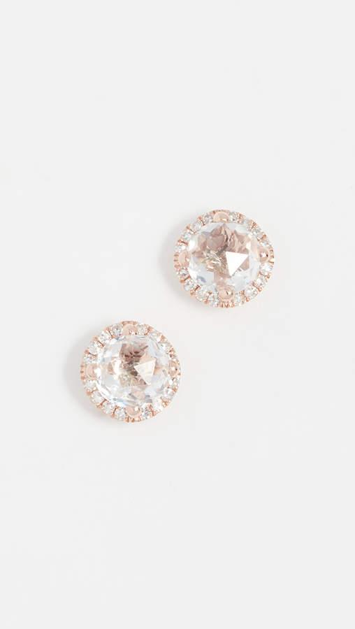Ef Collection Diamond White Topaz Stud Earrings