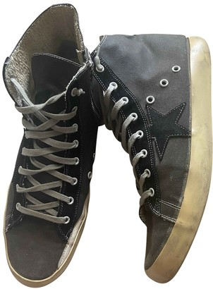 Golden Goose Francy Anthracite Cloth Trainers
