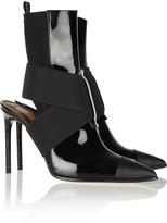 Reed Krakoff Cutout leather and neoprene ankle boots