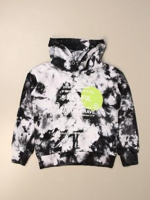 Diesel Hooded Sweatshirt In Cotton With Logo