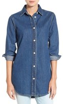 MiH Jeans Women's Oversize Cotton Denim Shirt
