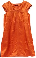 Max Mara Orange Silk Dresses
