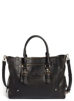 Sole Society Susan Faux Leather Tote - Black