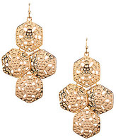 Anna & Ava Amelia Hexagon Chandelier Earrings