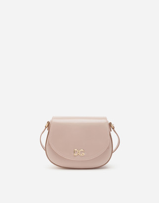 Dolce & Gabbana Patent Leather Crossbody Bag With Logo