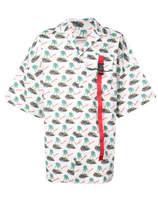 Palm Angels Islands Short Sleeve Shirt - White - Size IT48
