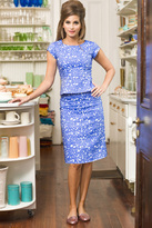 Shabby Apple Azalea Straight Skirt Blue