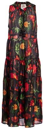 Figue Global Caravan Betty Print Silk Dress